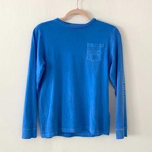 Vineyard Vines Blue Long Sleeve Logo Tee M